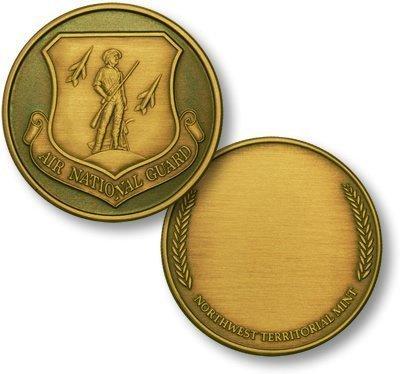 Air National Guard Wreath Bronze Antique Challenge Coin