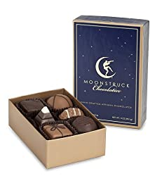 Moonstruck Chocolate 6-Piece Milk and Dark Chocolate Truffle Collection