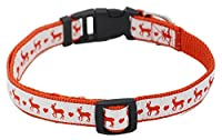 Christmas Santa Reindeer Holiday Collar for Cats Dogs Pets