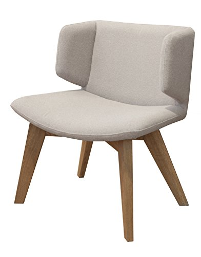 Tenzo 9450-212 Tequila Designer Sessel, Sitzfläche mit Stoffbezug, 74 x 68 x 50 cm, hellgrau