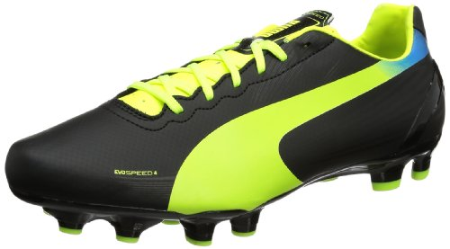 Puma  evoSPEED 4.2 FG,  Scarpe da calcio uomo, Nero (Schwarz (black-fluo yellow-brilliant blue 01)), 41