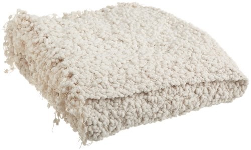 Woven Workz Betsy Throw, Cream