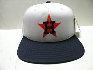MLB Houston Astros White Logo 2 Tone Retro Snapback Cap by American Needle