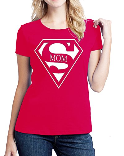 Hot Ass Tees Womens Fitted SuperMom Super Hero Breastfeeding and Every Day Mom Funny Novelty Parody T-shirt Red X-LARGE (Super Hero Tee Shirts For Women compare prices)
