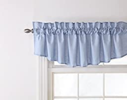 Stylemaster Renaissance Home Fashion Emery Lined Insert Valance, 60-Inch by 16-Inch, Sky