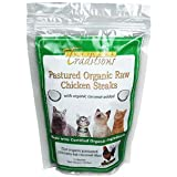Pastured Organic Raw Chicken Steaks for Cats - 1.2 lbs.