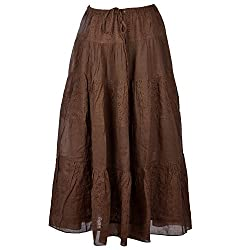 Beautiful Clothes Brown Stylish Skirt Cotton Skirt For Women (BCA2039)