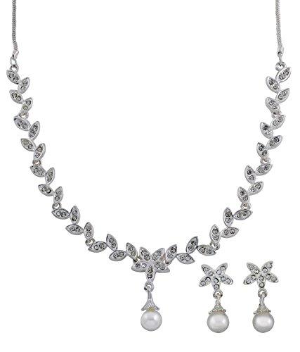 OLEVA Combo set of 5 Ladies Austrian Diamond Necklace Set OHD 35