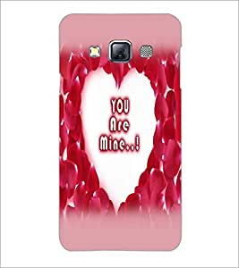 PrintDhaba Heart with Quote D-2254 Back Case Cover for SAMSUNG GALAXY A3 (Multi-Coloured)