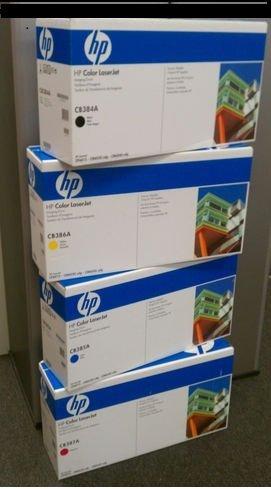 Genuine Hp Cb384A, Cb385A, Cb386A, Cb387A 824A Imaging Drum Set Bcym Lj Cp6015, Cm6030, Cm6040 Mfp Sealed In Retail Packaging