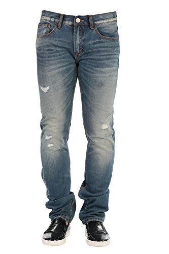 SUN68 Uomo Pantaloni Jeans 5 tasche Primavera Estate Blu Denim Art 16199 NIKI P16