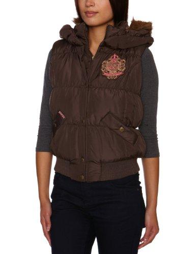 Lipsy Ou00689 Brown Detachable Hood Puffa Women's Coat