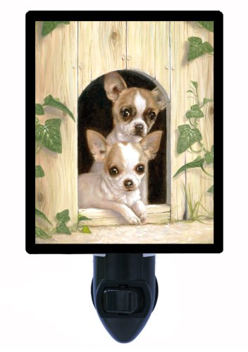 Dog Night Light - Abbey And Joe - Chihuahuas - Led Night Light front-994800