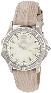 Invicta Women's 11782 Wildflower Mother-Of-Pearl Dial Silver Tone Leather Watch Set