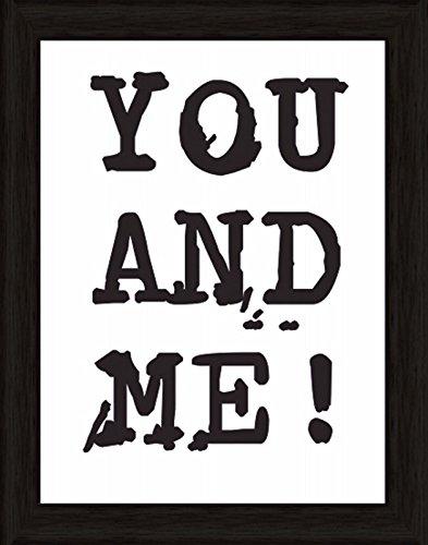 Bild mit Rahmen Kunstdruck Bilder Artland Schrift Jule: Du & Ich in verschiedenen Größen Riesenauswahl in unsrem Händlershop!