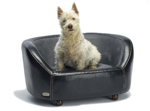 Wallace and Jones Dog Bed Oxford I, Medium, Midnight Black - (102x67x45cm)