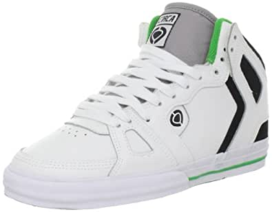C1RCA Men's 99 Vulc Skate Shoe,White/Black/Green,7.5 M US