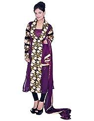 Tehzeeb Women's Georgette Straight Salwar Suit