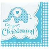 Baby Boy Christening Elephant Party Tableware Range (Lots of Party items to choose from - Combine orders to save on postage!)