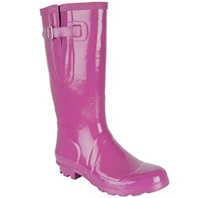 Ladies Girl Violet Gloss Wellington Boot UK6 Fashion Festival Waterproof Wellies