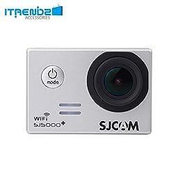 Video Camcorder, Itrendz Grey Sj5000 Plus Wifi Sports Action Camera Sjcam Sj5000+ Water Resistant Helmet Head Video Camcorder