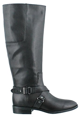 Nine West Women's Blogger Wide Calf Harness Boot,Black,7.5