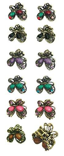 Dozen Pack - 12 Mini Butterfly Jaw Clips P864175-1-D