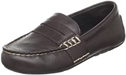 Polo by Ralph Lauren Telly Casual Loafer (Toddler/Little Kid/Big Kid),Chocolate Burnished Leather,13 M US Little Kid