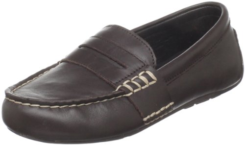 Polo by Ralph Lauren Telly Casual Loafer (Toddler/Little Kid/Big Kid),Chocolate Burnished Leather,4.5 M US Big Kid