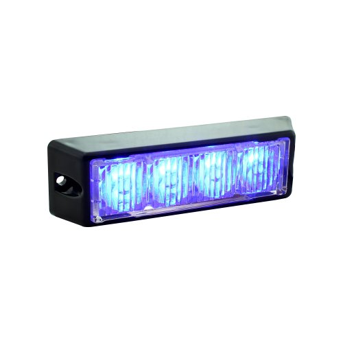 Lamphus Solarblast 4W Volunteer Firefighter Emergency Vehicle Led Deck Grille Strobe Warning Light Head ( Other Color Available ) - Blue