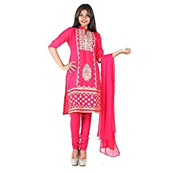 RangoliSF Woman's Cotton Unstitched Dress Material (RSFG1404 Pink)