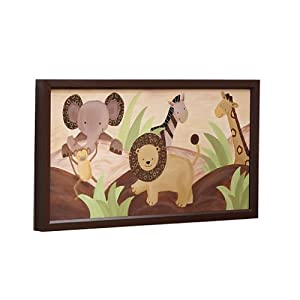 Lambs & Ivy Baby Cocoa Wall Decor, Chocolate/Beige