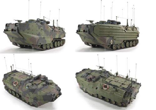 1/35 AAVC-7C1水陸両用強襲車/指揮車輌型 EAAK (増着装甲パーツ付)