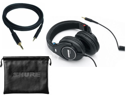 Shure Srh440 Professional Studio, Dj'S, Keyboard Practice, Around-Ear Stereo Headphones With An Extra Replacement Straight Cable