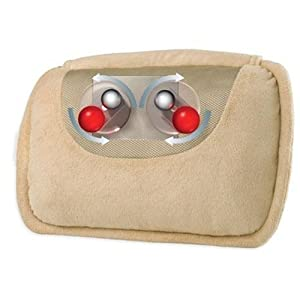 Homedics SP-10HF-CA Therapist Select Shiatsu Pillow with Heat (Beige)
