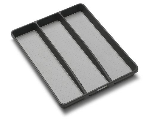Madesmart 1-3/4 by 16 by 12-3/4-Inch Utensil Tray, Granite