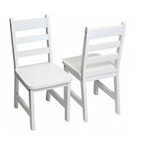 Lipper International 523-4W Child's Chairs, Set of 2, White