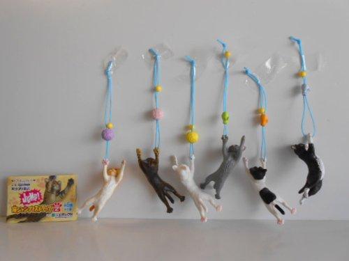 猫ジャンプ ! ストラップ 2 シークレット 入全6種 ねこ 茶トラ全6種 1 茶トラ白 2 キジトラ 3 ハチワレ 4