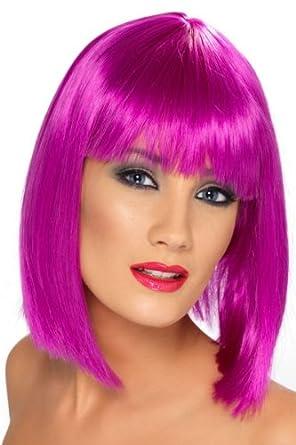 Short Glam Neon Purple Wig
