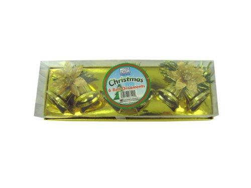 6pk golden bells - Pack of 24