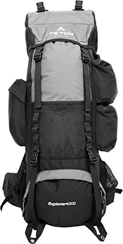 TETON Sports Explorer 4000 Internal Frame Backpack, Metallic Silver