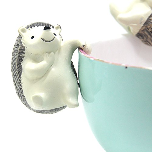 Velener Mini Succulent Plant Vase and Pots Accessories Hedgehog Hook for Garden Decor (Set of 3)
