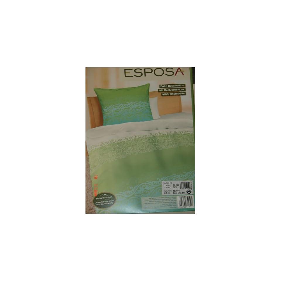 Mako Satin Bettwasche Grun Aqua 140 X 200 70 X 90 Cm On Popscreen