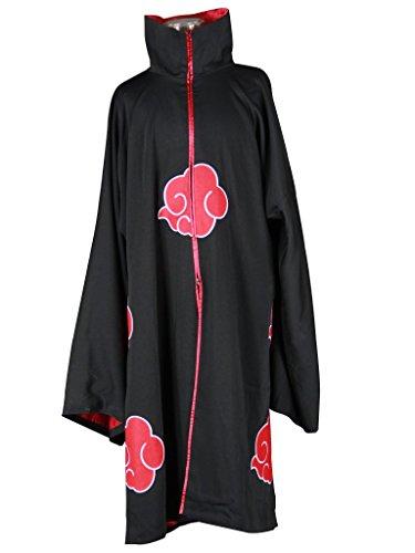 [Mtxc Men's Naruto Cosplay Costume Akatsuki 2nd Size XL-Plus Black] (Naruto Deidara Cosplay Costume)