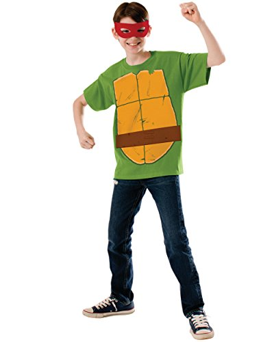 Teenage Mutant Ninja Turtle Child's Raphael Costume Top and Eye mask