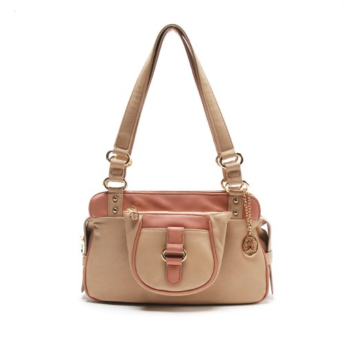 On Sale Vieta Belinda Satchel Tote Handbag Purse, Colors Available front-28516