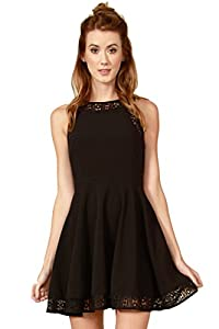 Sugarlips Womens Nellie Lace Dress Medium Black