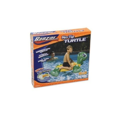 Banzai No-tip Inflatable Ride-on Turtle Pool Toy with Buoyancy Chamber by Banzai jetzt kaufen