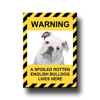 English Bulldog Spoiled Rotten Fridge Magnet No 3