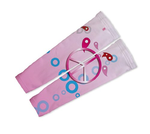 Buy Low Price Pink Peace Arm Warmers Sleeves Unisex Walking/Cycling/Running (01-AWS-152-PM)